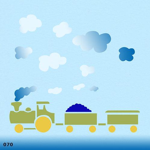 070 שבלונה רכבת משא
