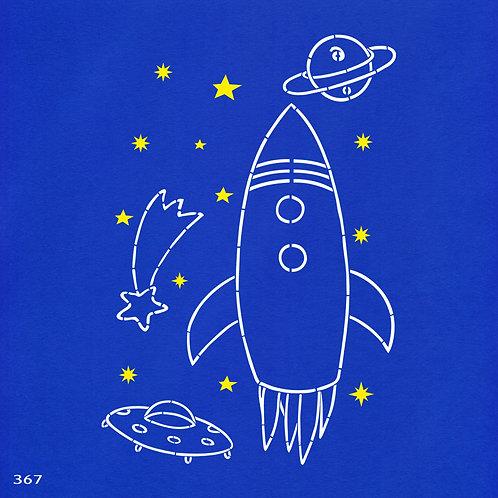 367 שבלונה חלליות וכוכבים