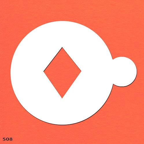 508 שבלונה ליצירת דוגמאות בקפה ובעוגות בצורת מעויין/יהלום