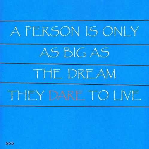 665 שבלונה אדם גדול כגודל החלום שמעז לחלום