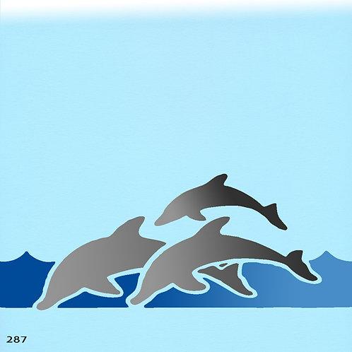 287 שבלונה להקת דולפינים