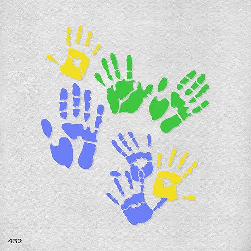 432 שבלונה כפות ידיים