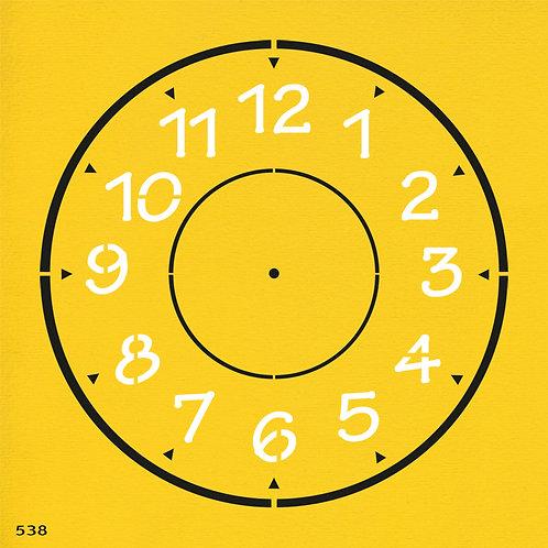 538 שבלונה שעון קיר