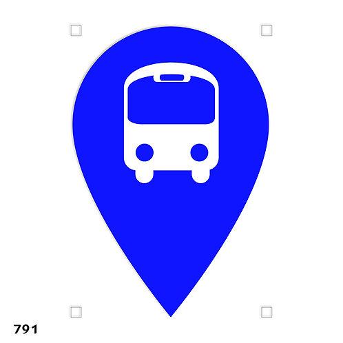 791 שבלונה סימול תחנת אוטובוס