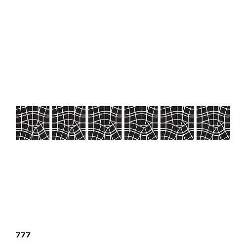 777 שבלונה בורדר אריחים מודרנים