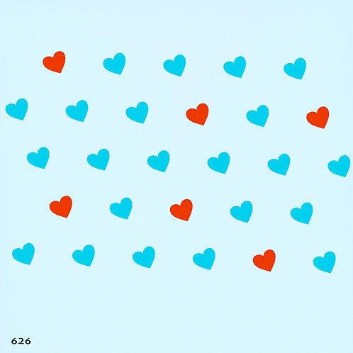626 שבלונה טפט בדוגמת לבבות