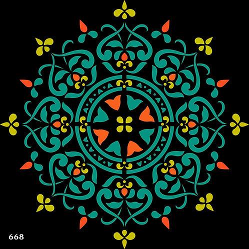 668 שבלונה מנדלה מדהימה ביופיה