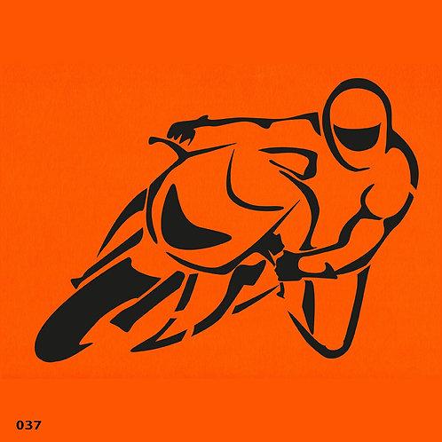 037 שבלונה אופנוען
