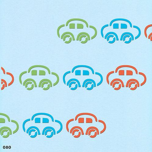 080 שבלונה בורדר מכוניות