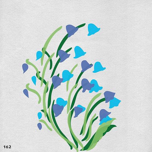 162 שבלונה פרחים - פעמוניות