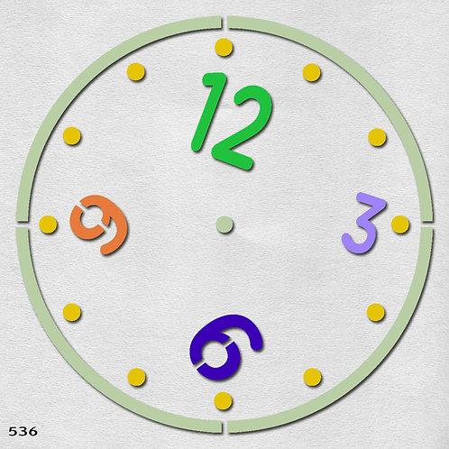 536 שבלונה שעון קיר