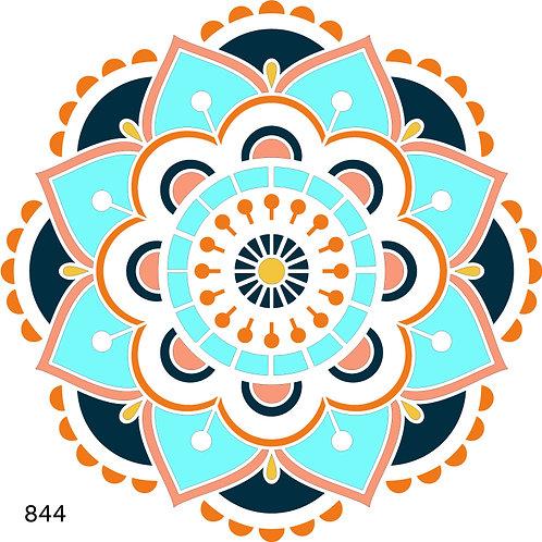 844 שבלונה מנדלה צבעונית 5 שכבות