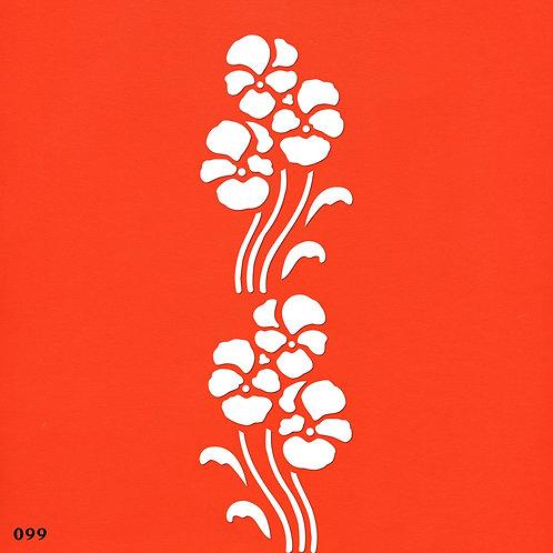 099 שבלונה בורדר פרחים