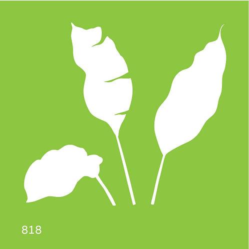 818 שבלונה עלים טרופיים