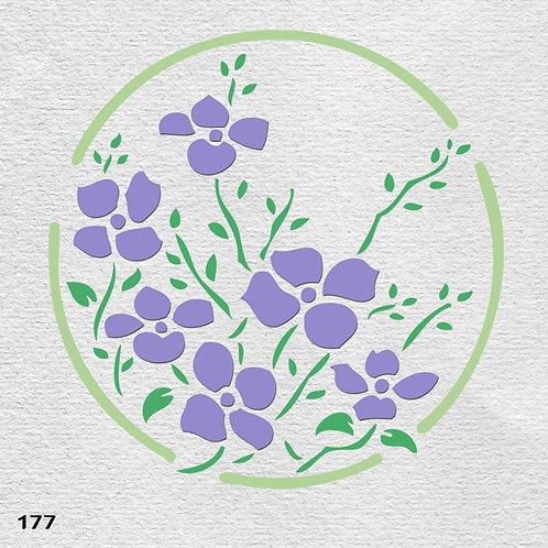 177 שבלונה פרחים