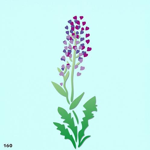 160 שבלונה פרחים