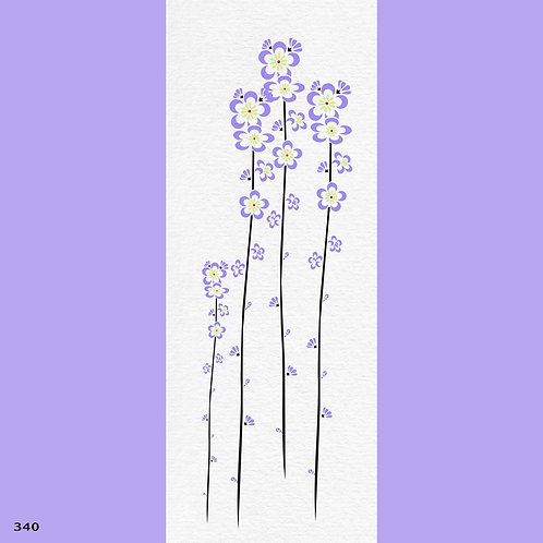 340 שבלונה פרחים - פרח בסגנון מודרני