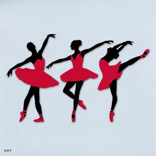 597 שבלונה רקדניות בסגנון קלאסי