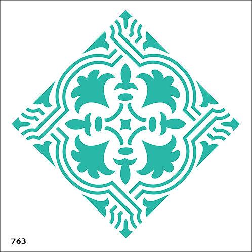 763/4 שבלונה אריח מצויר בצורת מעוין