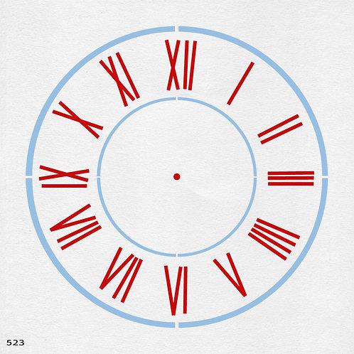 523 שבלונה שעון קיר