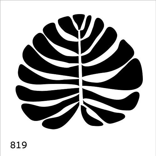 819 שבלונה עלה טרופי רחב