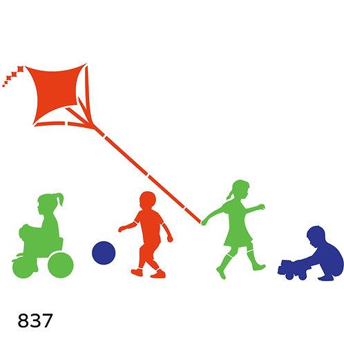 837 שבלונה ילדים משחקים