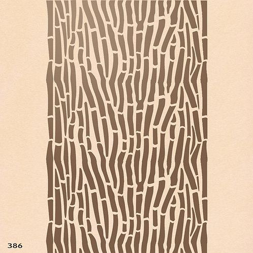 386 שבלונה טפט בדוגמה מנומרת קווים