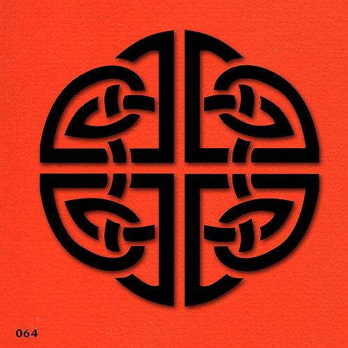 064 שבלונה עיטור סיני קלאסי