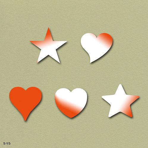 515 שבלונה לבבות וכוכבים בצורות שונות