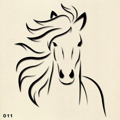 011 שבלונה סוס
