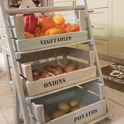 ארגז אחסון / מתקן עץ לירקות ופירות 1201019