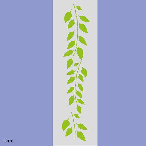 311 שבלונה בורדר ענף עם עלים