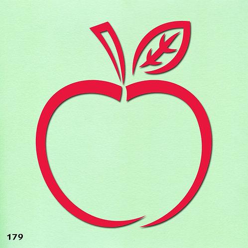 179 שבלונה תפוח עץ בסגנון גרפי