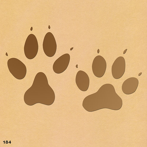 184 שבלונת עקבות כלב
