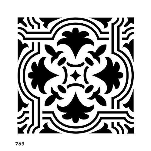763/5 שבלונה אריח מצויר מרובע