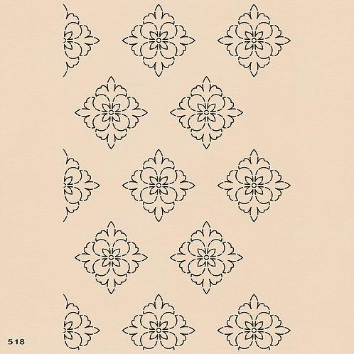 518 שבלונה טפט בדוגמה גאומטרית מעודנת