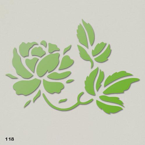 118 שבלונה פרחים -  ורד