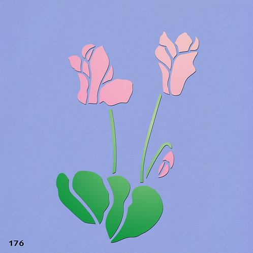 176 שבלונה פרחים -רקפות
