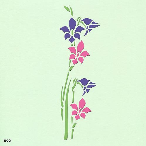 092 שבלונה פרחים בעלי גבעול ארוך