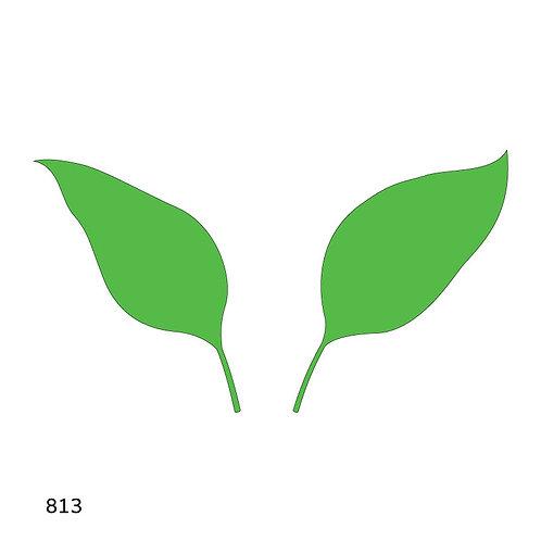 813 שבלונה זוג עלים