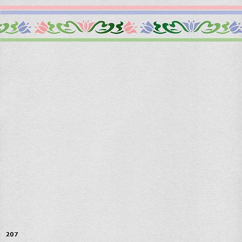 207 שבלונה בורדר עיטורי צמחים