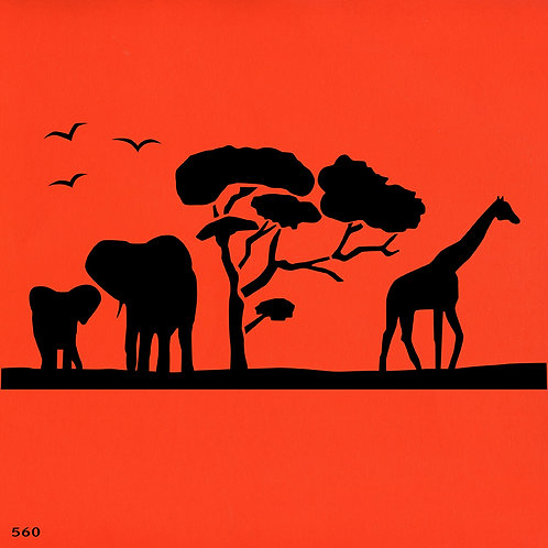 560 שבלונת ספארי באפריקה