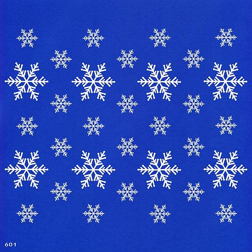 601 שבלונה טפט בדוגמת פתיתי שלג בגדלים שונים
