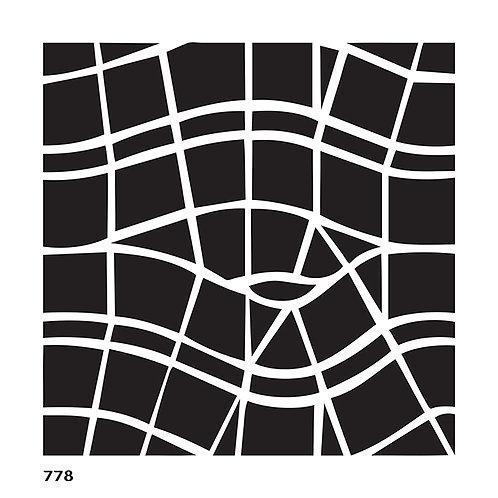 778 שבלונה אריח בצורת גלים גאומטריים