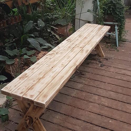 2501011 ספסל עץ מלא לגינה