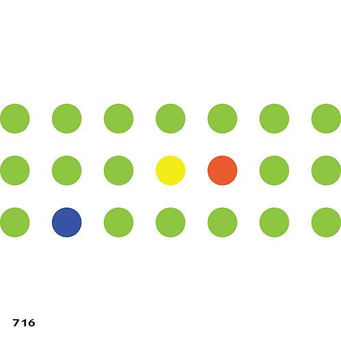 716 שבלונה טפט בדוגמת נקודות
