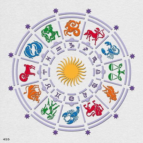 455 שבלונה גלגל המזלות
