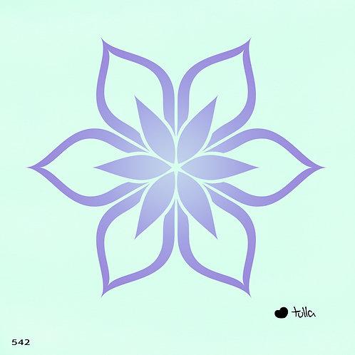 542 שבלונה פרח בסגנון גרפי