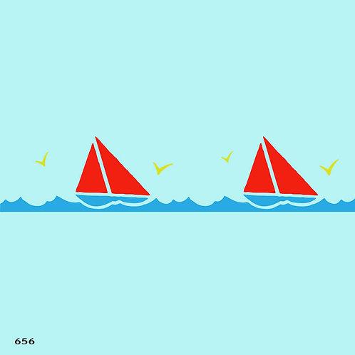 656 שבלונה בורדר סירות וצפרים