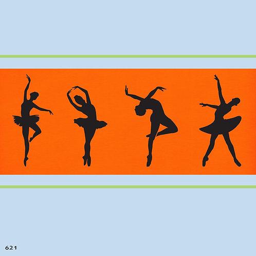621 שבלונה רקדניות בסגנון קלאסי